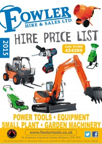 Hire Price List 2015