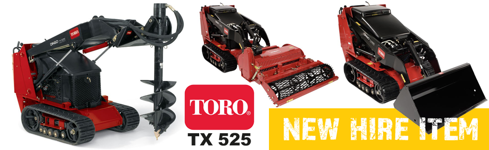 Toro TX525 available to hire at fowlers
