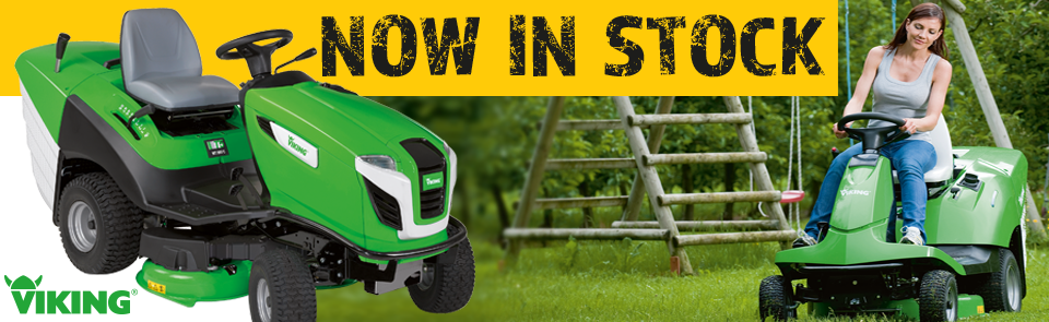Viking ride-on lawn mowers now in stock