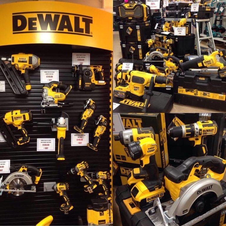 large range of dewalt powertools