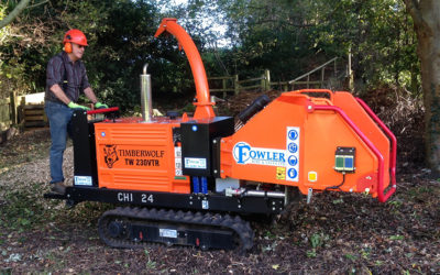 Our Tracked Chipper in Action