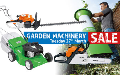 Garden Machinery Sale Day 2018